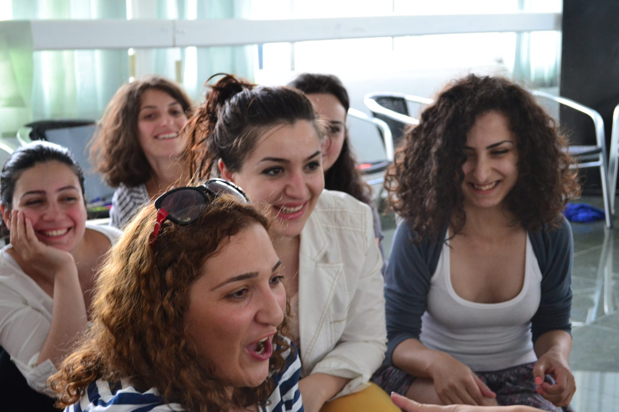 Young women from Georgia join other South Caucasian women at a feminist Summer School in the Georgian seaside town of Kobuleti, to discuss women's rights and challenges. Photo: Julia Lapitski / Kvinna till Kvinna