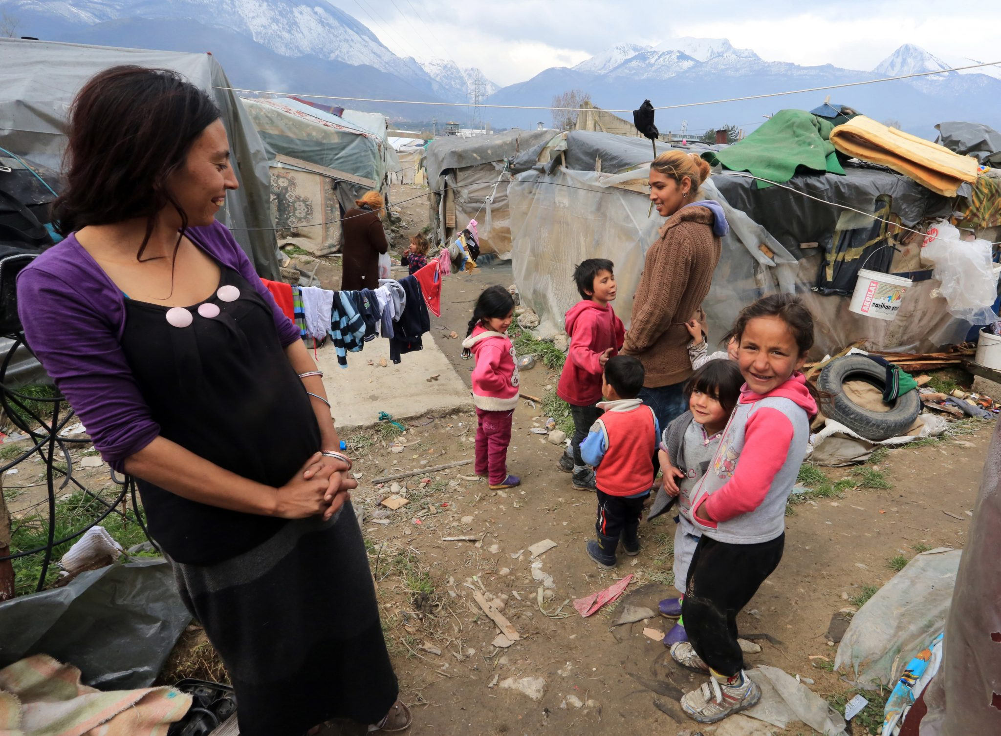 A Roma mother and her children at a camp in the city of Peja. The Roma are one of Kosovo's minority groups, and often discriminated against. Photo: Driton Paqarada