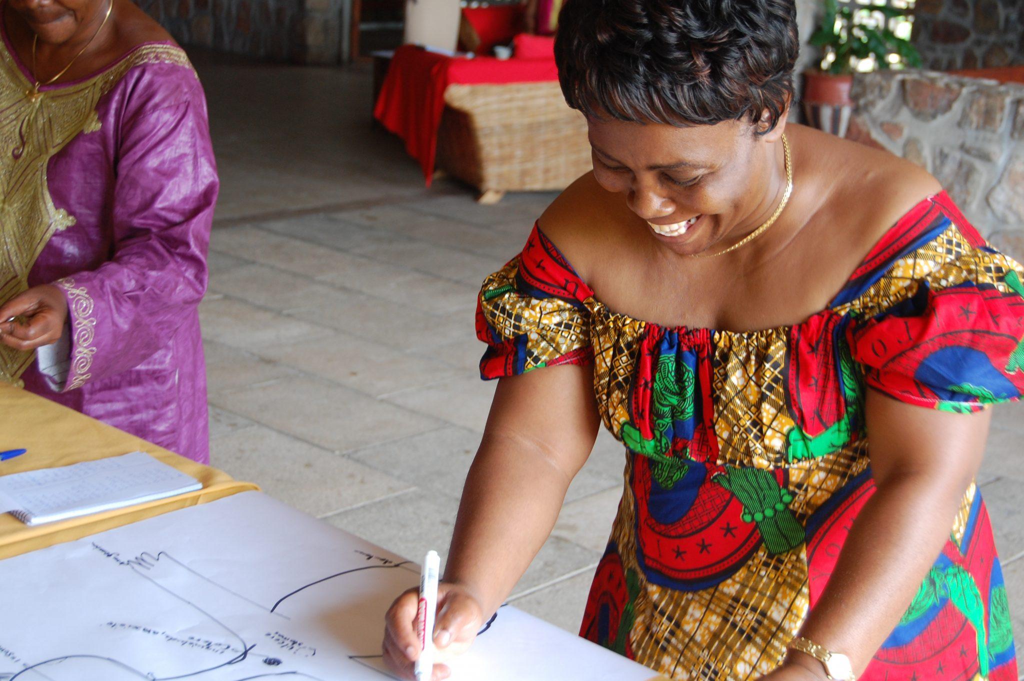 Photo: Congolese women's rights activist Julienne Lusange participates in a workshop on integrated security, organised by the Kvinna till Kvinna Foundation. Photo: Anna Lithander / Kvinna till Kvinna