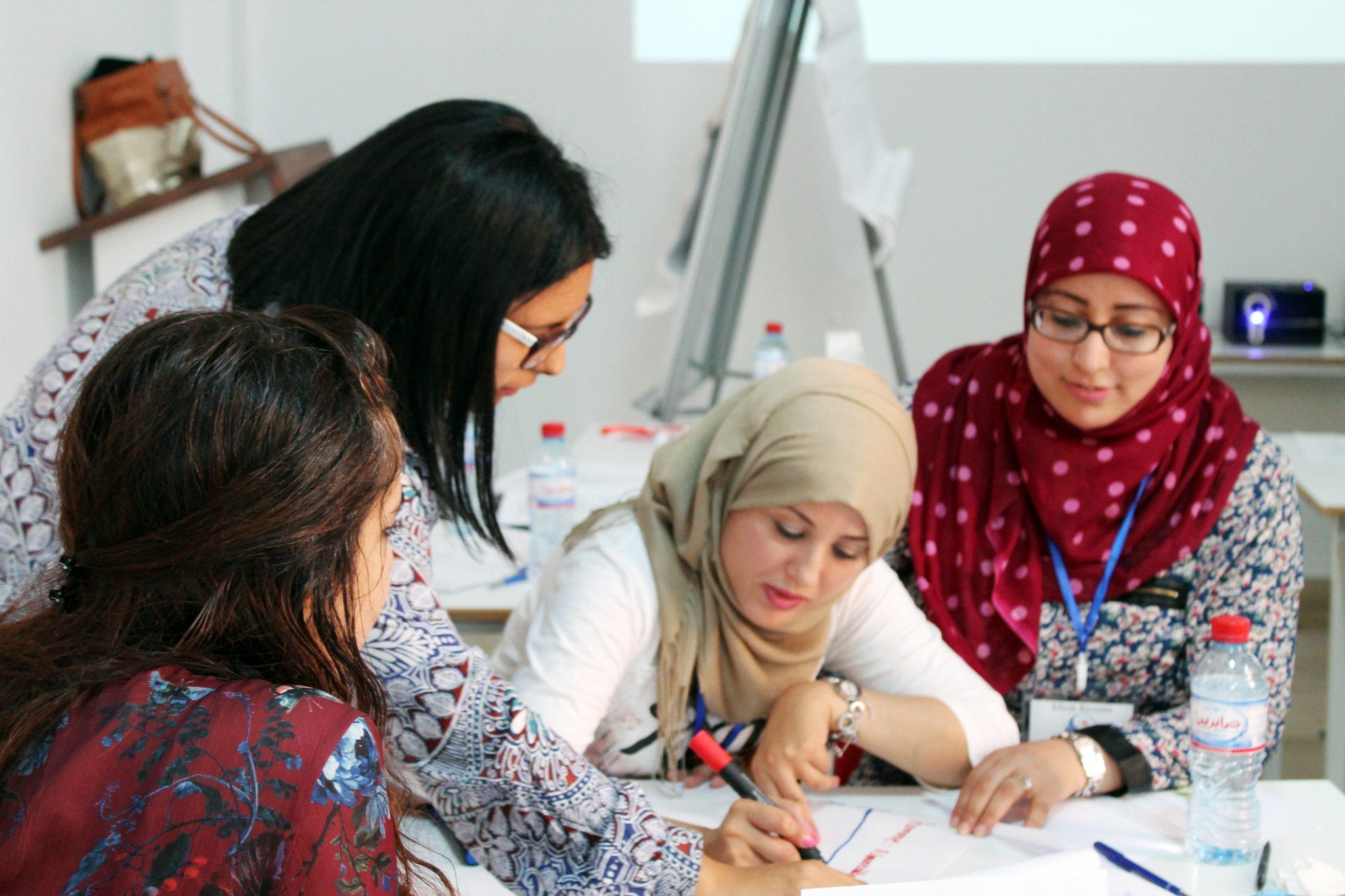 Members of our Tunisian partner organisation. Photo: Aswat Nissa