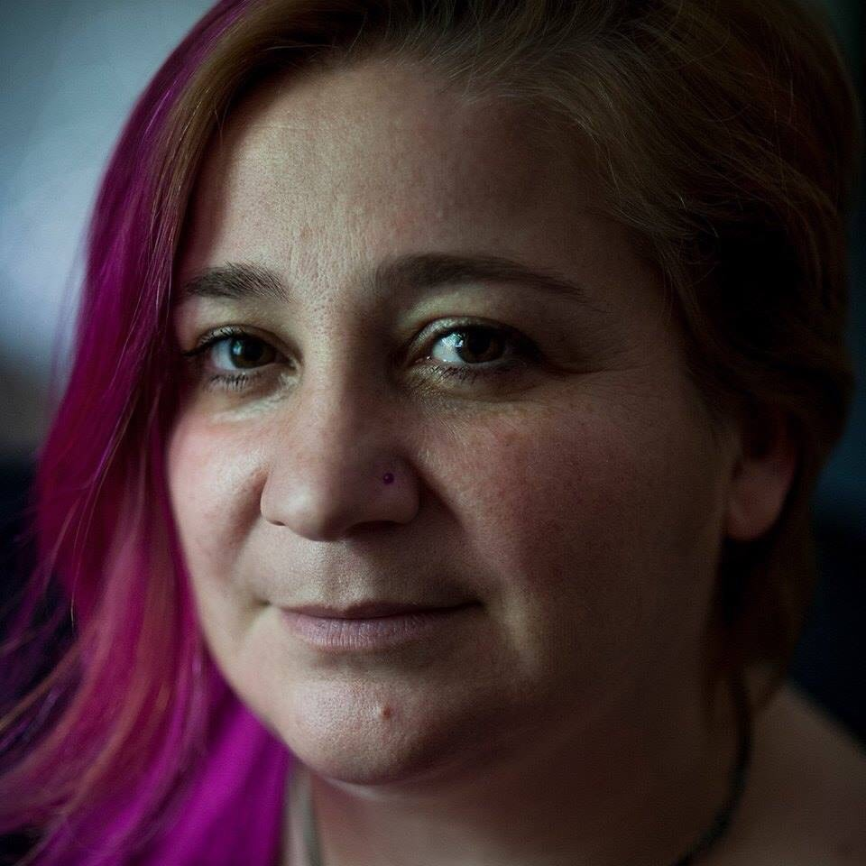Lara Aharonian, a feminist activist and co-founder of the Women's Resource Center Armenia,