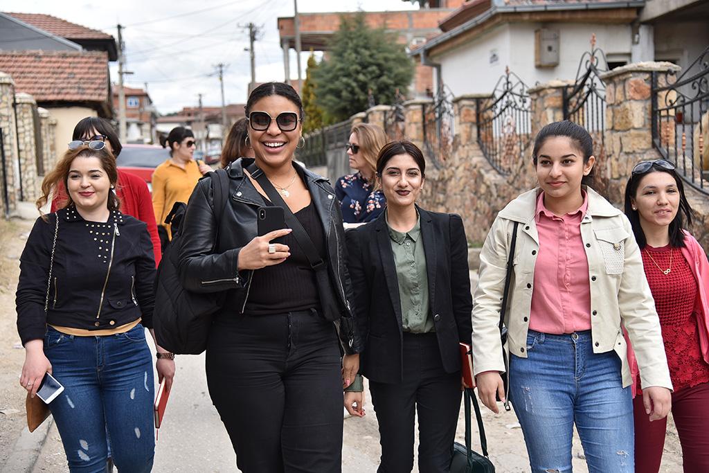 Goodwill ambassador Fanna Ndow Norrby visiting Shuto Orizari, one of the ten municipalities that make up the City of Skopje, the capital of the Republic of North Macedonia. Photo: Maja Janevska Ilieva